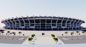 Jaber Al-Ahmad International Stadium - Kuwait 3D model
