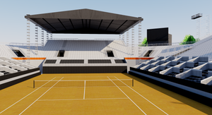 Jockey Club Brasileiro Tennis Stadium - Brazil 3D model