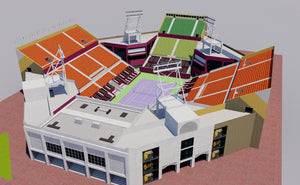 Khalifa International Tennis - Doha, Qatar 3D model
