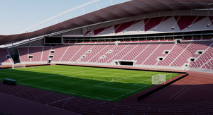 Khalifa International Stadium - Qatar 3D model