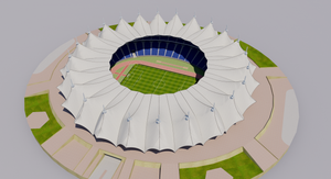 King Fahd International Stadium - Riyadh Saudi Arabia 3D model
