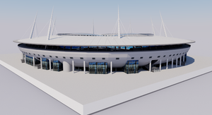 Krestovsky Stadium - Saint Petersburg, Russia 3D model