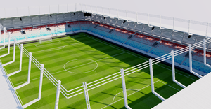 New National Stadium - Luxembourg 3D model