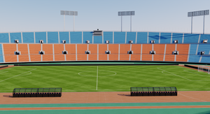 Old National Stadium Tokyo - Japan 3D model