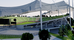 Olympiastadion Munich - Germany 3D model