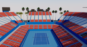 Princess Mundo Imperial Tennis Court - Mexico 3D model
