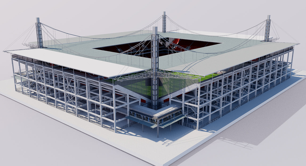 Rhein Energie Stadion - Cologne - Germany 3D model