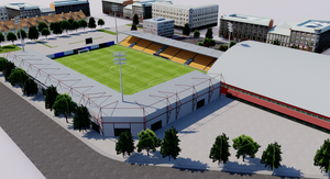 Skonto Stadium - Riga, Latvia 3D model