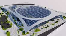 Load image into Gallery viewer, SoFi Stadium - Los Angeles - USA 3D model