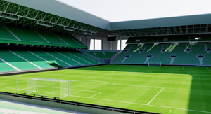 Stade Geoffroy-Guichard - Saint Etienne, France 3D model