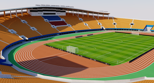 Tianhe Stadium - Guangzhou, China 3D model