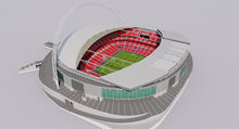 Load image into Gallery viewer, Wembley Stadium - London England 3D model