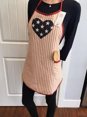4th of July - Apron with heart