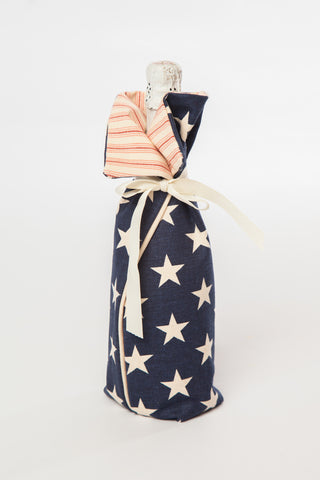 4th of July Wine Bag
