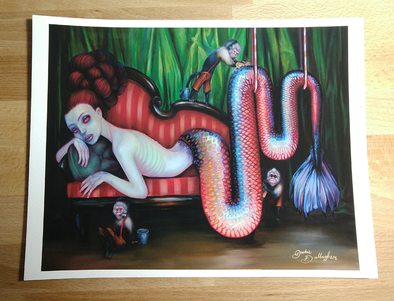 """Just Another Feejee Mermaid"" 8""x10"" Signed Paper Giclee"