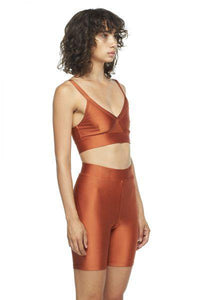 Copper Criss Cross Sports Bra