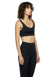 Black Sports Bra with Low Back and Corset