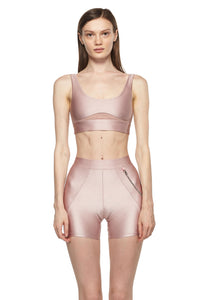 Rose Sports Bra with Low Back and Corset