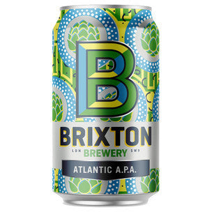 Brixton's famous street market winds down Atlantic Road, brimming with exotic wares. Bold aromas and flavours compete for passing attention, a bit like our Atlantic A.P.A. A deluge of aroma hops after the boil and generous dry hopping deliver a juicy tropical flavour. Extra Pale malt keeps it crisp and lets the hops rule. Taste: Bursts of citrus and tropical fruit. Bold, modern and refreshing.