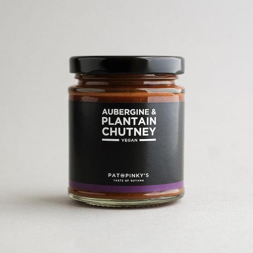 Traditional aubergine blended with the tropical Flava of ripe plantain. This sweet chilli chutney is an amazing combination of the familiar with the exotic, the perfect snack or added ingredient.