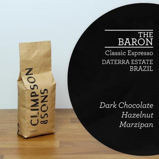 A classic, crowd pleaser of an espresso from Daterra Estate in Brazil. Rich, rounded and sweet, this coffee is characteristic of the area, with a flavour profile of clean dark chocolate, sweet nuttiness and marzipan that sits exceptionally well as an espresso and in milk.
