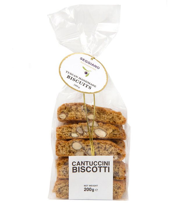 Crunchy almond biscuits, which the Italians traditionally enjoy dipped in Vin Santo after a meal. They are hand shaped into loaves which are baked and sliced while still hot.