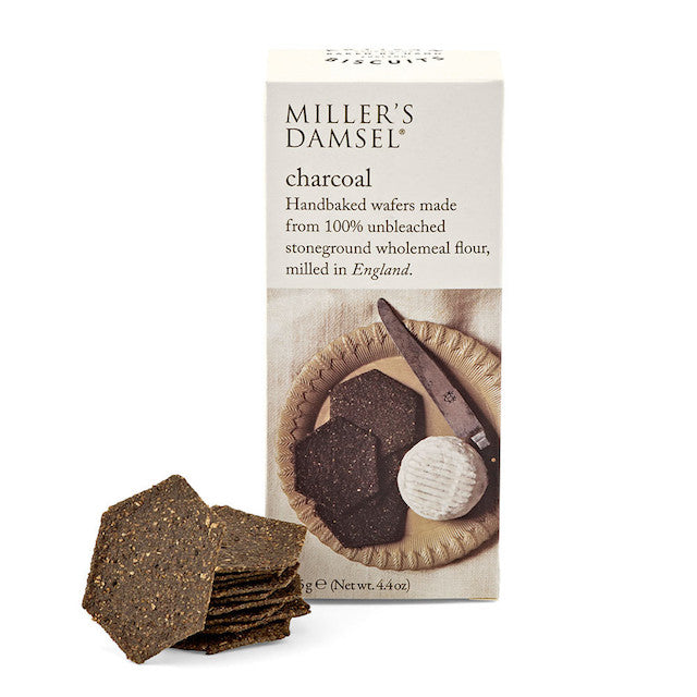 Dark and crisp wafers. Hexagonal wafers made with stone-ground flour, grown and milled in England.