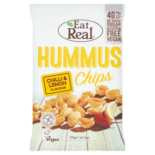 In these delicious hummus chips, the wonderful flavour of the chick pea is infused with the touch of mild spiciness and zesty taste of lemon. You'll really enjoy the chip as the flavours offer a perfect balance between the creamy taste of hummus and unique blend of spicy peppers and tangy lemon!