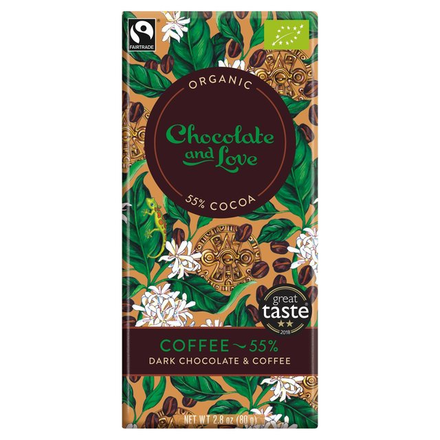This is an elegant chocolate bar with a real but subtle taste of coffee (Arabica). Coffee flavours provide a little kick, perfectly complementing the chocolate taste.