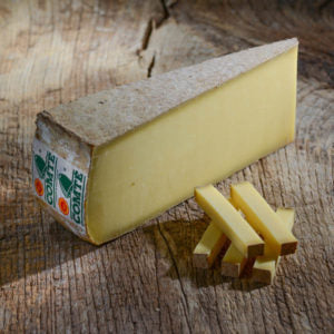 Comte is a harder cheese that subtly boasts a creaminess. The initial sharpness of this cheese is quickly balanced by a warm, nutty finish.
