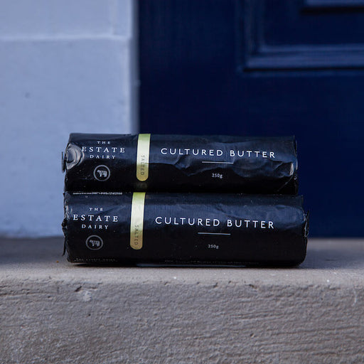 The Estate Dairy's unsalted butter is farm fresh and amazingly creamy. Perfect for cooking or baking.
