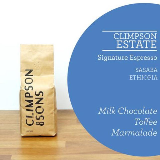 Climpson & Sons' signature espresso has gone solo as 100% Sidamo Sasaba from the Guji region of Ethiopia. Each year, Climpson & Sons has improved this espresso quality and consistency, to the point where they now showcase it as a stand-alone representation of Ethiopian espresso.