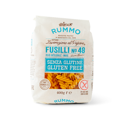 Rummo's gluten-free Fusilli, with its sauce-catching spirals, is as delicious and delightful to eat as the classic version from southern Italy, where its name and precise shape vary from region to region.