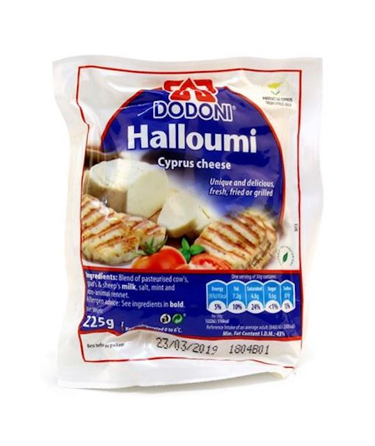 Halloumi is produced according to the Cypriot traditional cheese-making methods, in accordance with high quality standards in the factory of DODONI in Limassol, Cyprus. With a hint of refreshing mint, it is equally as delicious fried or grilled since the high melting point allows a delicious golden crust to form.