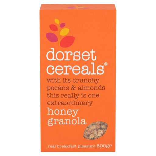 Dorset Cereals' Honey Granola is a glorious mix of crunchy pecans and almonds, oat and rye flakes and, of course, honey.