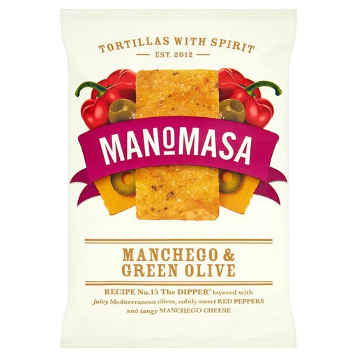Layered with juicy Mediterranean olives, subtly sweet pimento and tangy manchego cheese, these chips deliver full flavour with a satisfying crunch.