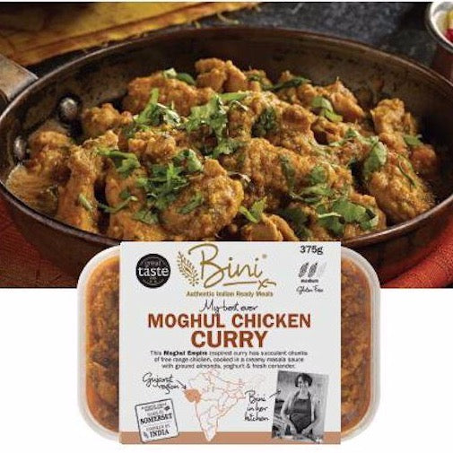 This Moghul Empire inspired curry has succulent chunks of chicken cooked in a creamy masala sauce with ground almonds, yoghurt & fresh coriander.