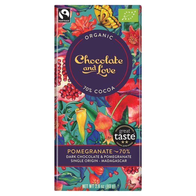 Pomegranate Dark Chocolate Madagascar 70%