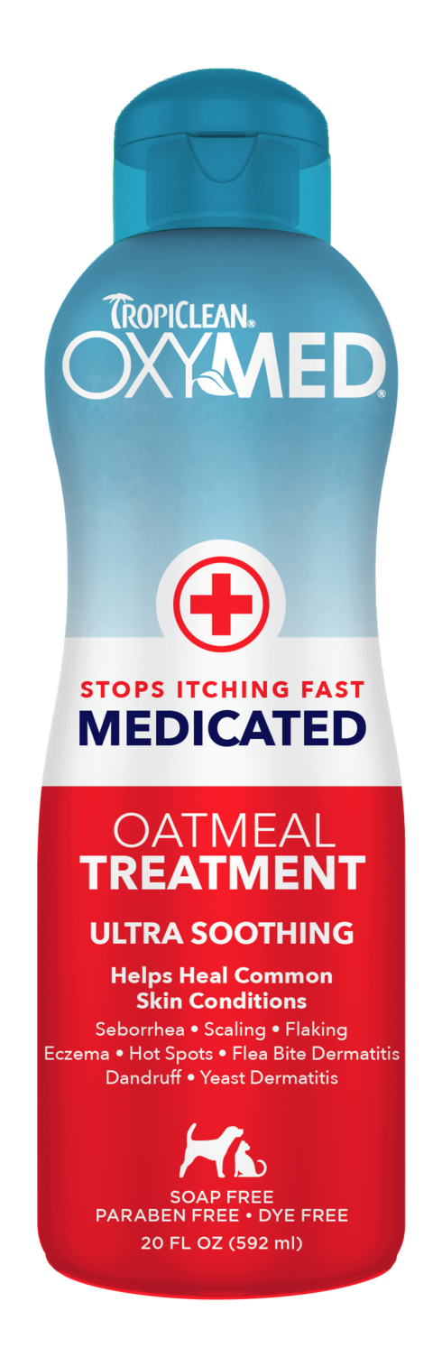 Tropiclean Oxymed Medicated Oatmeal Treatment for Dogs & Cats [Volume: 20 fl.oz. (592 ml)]