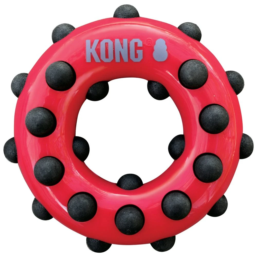 KONG - CIRCLE DOTZ INTERACTIVE RUBBER TOY