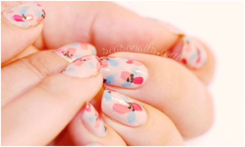 10 super easy nail designs my make up brush set us dot nail flower design and find a flower design that while easy to do still looks sophisticated and pretty i totally found that with this super easy prinsesfo Gallery