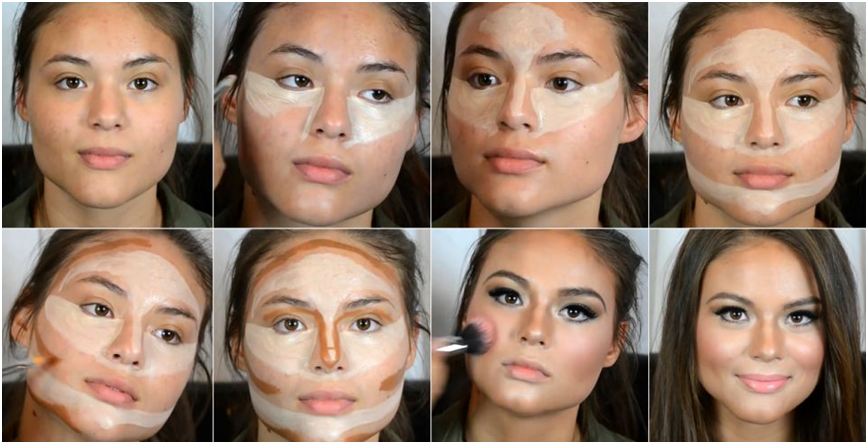 a step by step guide to highlighting and contouring my make up