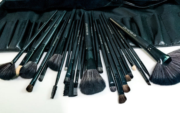 24 Piece Jet Black Makeup Brush Set Review By The Luxicon
