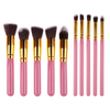 10 Piece Kabuki Brush Set PINK,  - My Make-Up Brush Set, My Make-Up Brush Set  - 3
