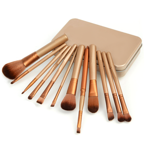Bronze Set 12 Piece Makeup Brush Set