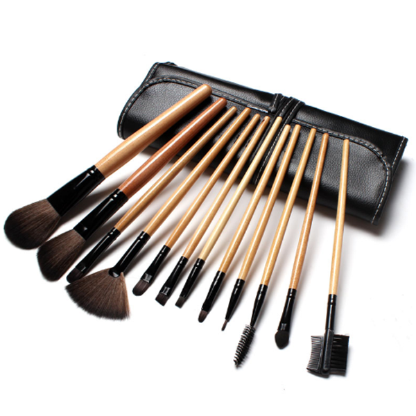 12 Piece Premium Wood Brush Set