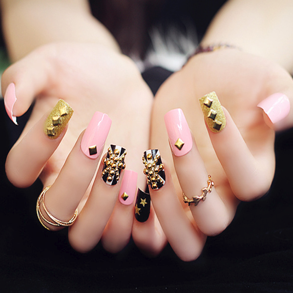 Acrylic Studded Nails [PRE-RELEASE] , Nail - My Make-Up Brush Set, My Make-Up Brush Set  - 2