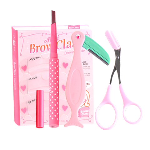 4 Pcs Eyebrow Tool Set