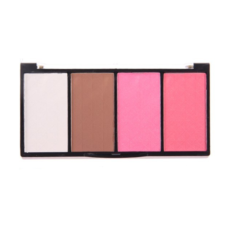 4 color blush powder palette