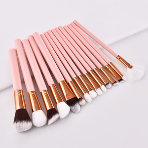 15 Piece Blush Kabuki Brush Set